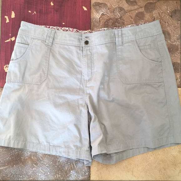 Dress Barn Shorts Womens Plus Size Khaki Sz 20 Poshmark